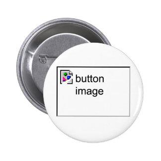 Broken Image 6 Cm Round Badge