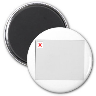 Broken Image HTML Code 6 Cm Round Magnet