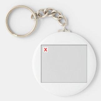 Broken Image HTML Code Basic Round Button Key Ring