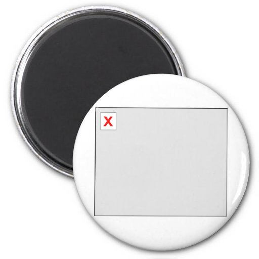 Broken Image HTML Code Fridge Magnet