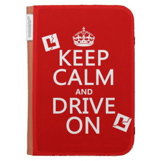 Broken L-Plates Keep Calm and Drive On Kindle Case