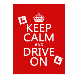 Broken L-Plates Keep Calm and Drive On Invites