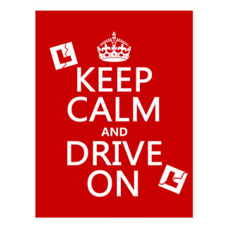 Broken L-Plates Keep Calm and Drive On Postcard