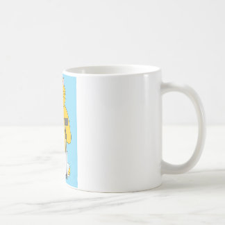 Broken leg, cat with leg in plaster. coffee mug