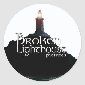 Broken Lighthouse Pictures Stickers - 3 Inch Round