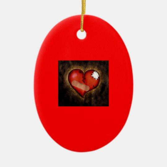 Broken/Mending Heart-ornament Ceramic Oval Decoration