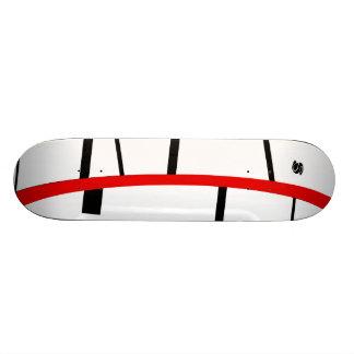 Broken pane 18.1 cm old school skateboard deck
