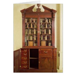 Broken pedimented bureau bookcase card