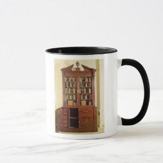 Broken pedimented bureau bookcase mug