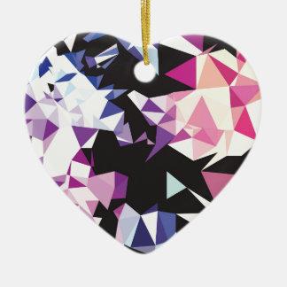 Broken Rainbow.jpg Ceramic Heart Decoration