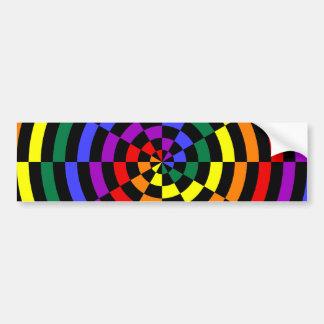 Broken Rainbow Spiral Design Bumper Sticker