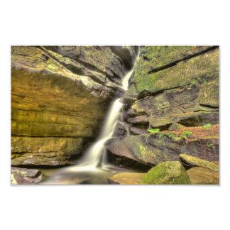 Broken Rock Falls Old Man s Cave Hocking Hills Photo Print