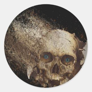 Broken Round Sticker