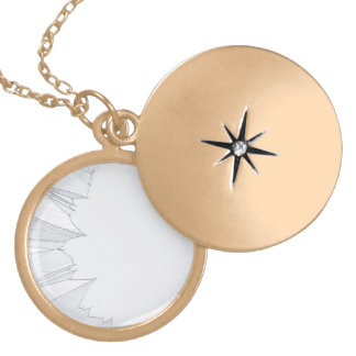 Broken Shattered Glass Round Locket Necklace