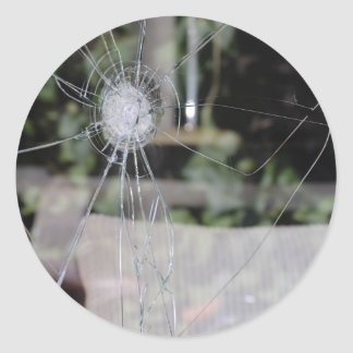 Broken show-window stickers