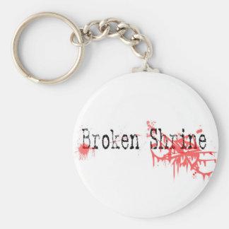 Broken Shrine Splatter Keychain