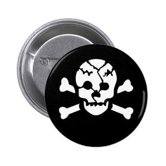 Broken Skull Pinback Button