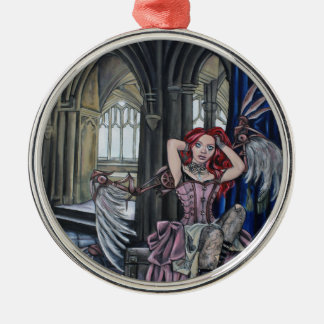 broken steampunk fairy art christmas ornament