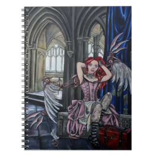 broken steampunk fairy art notebook