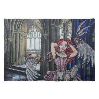 broken steampunk fairy art placemat