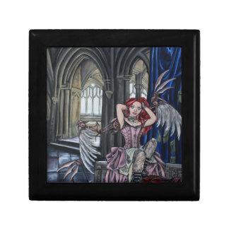 broken steampunk fairy art small square gift box