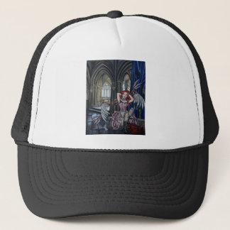 broken steampunk fairy art trucker hat