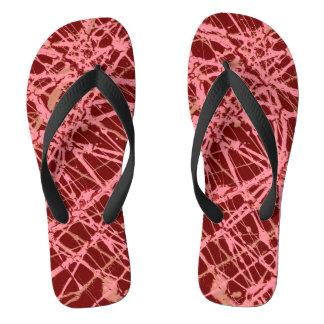 BROKEN STRINGS (an abstract art design) ~ Flip Flops
