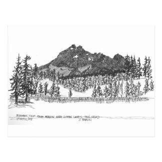Broken Top from meadow near Green Lakes trailhead Postcard