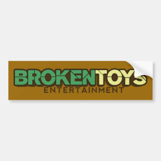 Broken Toys Sticker Bumper Sticker