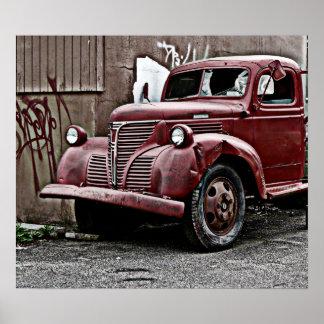Broken Truck Front Windshield Poster