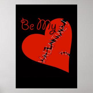 Broken Valentine s heart Poster