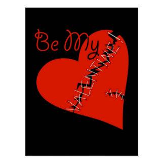 Broken Valentine's heart Postcard