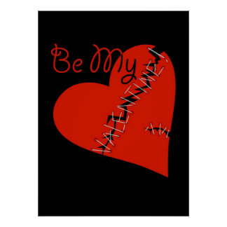 Broken Valentine's heart Poster