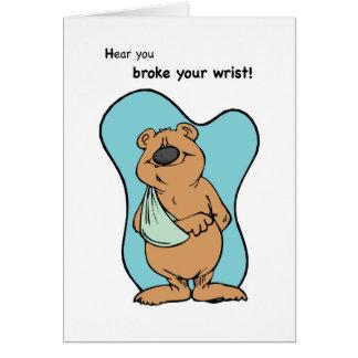 Broken Wrist Bear Greeting Card