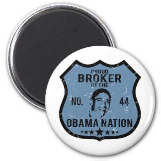 Broker Obama Nation 6 Cm Round Magnet