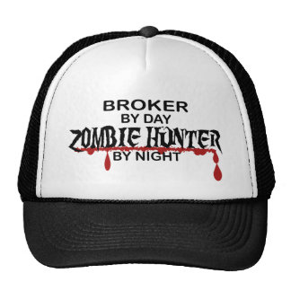 Broker Zombie Hunter Trucker Hats