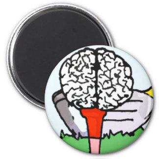 Brolf: Brain Golf! 6 Cm Round Magnet