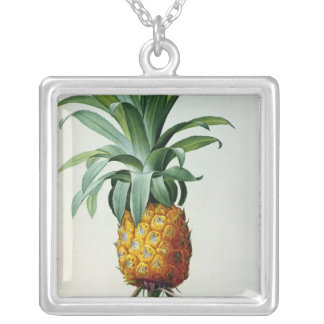 Bromelia Ananas, from 'Les Bromeliacees' Silver Plated Necklace