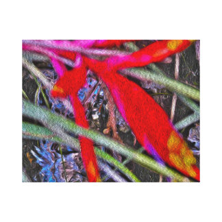Bromeliad Abstract Painterly Art Canvas Print