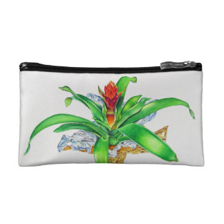 Bromeliad Watercolor Cosmetic Bag