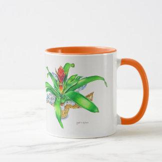 Bromeliad Watercolor Mug