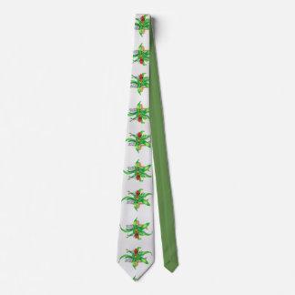 Bromeliad Watercolor Tie
