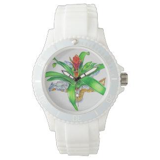 Bromeliad Watercolor Wristwatch