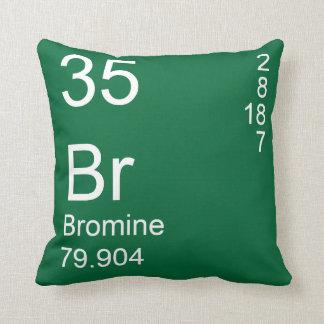 Bromine Throw Pillows