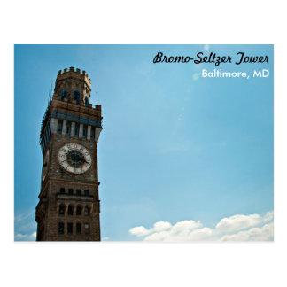 Bromo-Seltzer Tower Baltimore Postcard