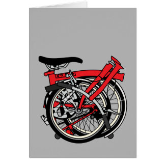 Brompton Bicycle Folded Card