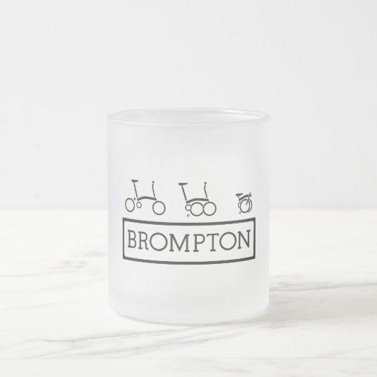 Brompton Bike Frosted 10 oz Frosted Glass Mug