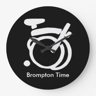 Brompton Black & White wall Clock