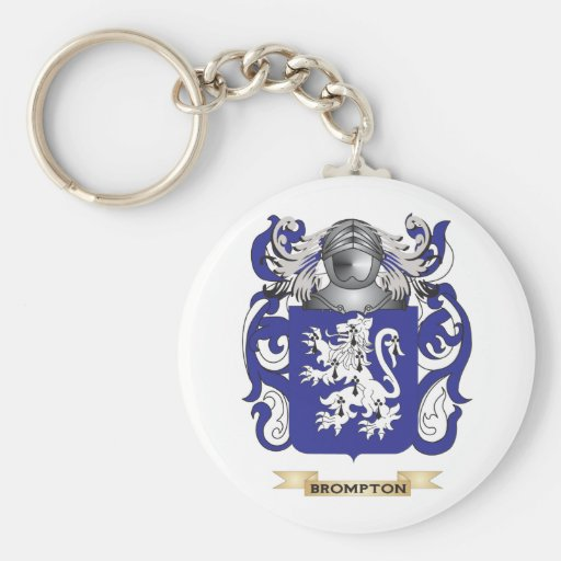 Brompton Coat of Arms (Family Crest) Keychains