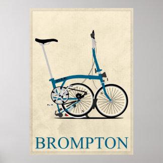 Brompton Folding Bike Poster
